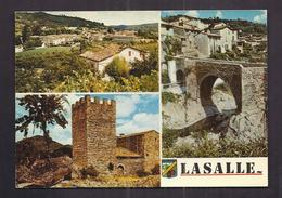 CPSM 30 - LASALLE - Souvenir - TB CP Multivue Dont Vue Générale , Pont , Château , Etc... - France