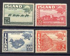 ISLANDE ( POSTE ) : Y&T N°  220/223  TIMBRES  NEUFS  SANS  TRACE  DE  CHARNIERE . - 1944-... Republique