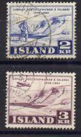 ISLANDE ( POSTE ) : Y&T N°  236/237  TIMBRES  TRES  BIEN  OBLITERES . - 1944-... Republique