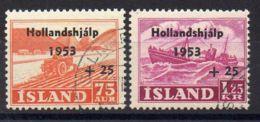 ISLANDE ( POSTE ) : Y&T N°  243/244  TIMBRES  TRES  BIEN  OBLITERES . - Usati