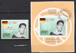 Sharjah  Block  + Marke  Fritz Walter - Calcio