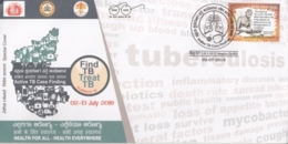 India  2018  Desease  Find TB  Treat TB  Bangaluru  Special Cover   # 16072  D  Inde Indien - Disease