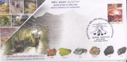 India 2018  Mines & Minerals  Copper  Uranium  Mica  Bauxite  Coal  Iron  Ranchi  Special Cover  # 16112  D  Inde Indien - Minerals