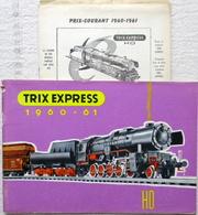 TRIX EXPRESS H0 Katalog 1960 - 61 Sammlerstück Preise Catalogue Pièces De Collection Prix En Francs Français - Bücher & Zeitschriften