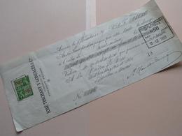 José TINCHANT Y Gonzalès & Cie - Anvers ( Reçu / Mandat ) Anno 1939  ( Zie/voir Photo) ! - Lettres De Change