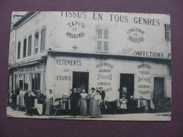 CPA 21 ARNAY LE DUC Magasin LUCOTTE Tissus Confections TOP Trés RARE & ANIMEE !! - Arnay Le Duc