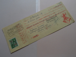 COGEFUCIG ( Articles Fumeurs ) Liège ( Reçu / Mandat ) Anno 1939  ( Zie/voir Photo) ! - Wechsel