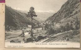 SUISSE -  Vallée De ZERMATT - Route De TAESCH à ZEMATT - VS Valais