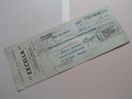 """Cafés En Gros """" EXCELLA """" Clermont-Ferrand ( Reçu / Mandat ) Anno 1935 ( Zie/voir Photo) ! - Lettres De Change"""