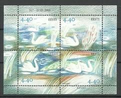 ESTLAND Estonia 2005 Block Mi 22 Swan MNH - Estonie