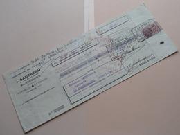 J. SAUTREAU ( Chaussons De Feutre ) BARBEZIEUX Charente ( Reçu / Mandat ) Anno 1938 ( Zie/voir Photo) ! - Bills Of Exchange