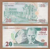 AC - TURKEY -  8th EMISSION 20 YTL - TL  B UNCIRCULATED - Turquie