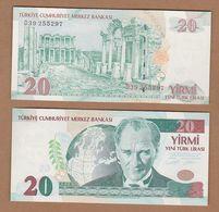 AC - TURKEY -  8th EMISSION 20 YTL - TL  D UNCIRCULATED - Turquie