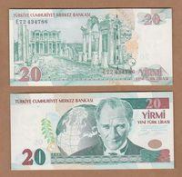 AC - TURKEY -  8th EMISSION 20 YTL - TL  E UNCIRCULATED - Turquie