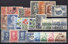 ISLANDE ( LOT ) : PETIT  LOT  DE  TIMBRES  TRES  BIEN  OBLITERES . - Islande