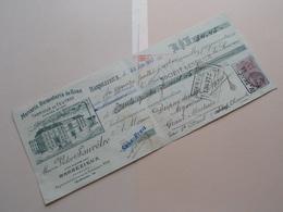 Maison Victor SAUVÊTRE ( Mercerie / Bonneterie ) BARBEZIEUX Charente ( Reçu / Mandat ) Anno 1937 ( Zie/voir Photo) ! - Wechsel