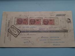 GONTIER Frères ( Epicerie/Droguerie ) ANGOULÊME Charente ( Reçu / Mandat ) Anno 1938 ( Zie/voir Photo) ! - Wechsel