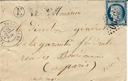1874- Enveloppes De SANCERGUES ( Cher ) Cad T17 Affr. N° 60 Type II  Oblit. G C 3090 + E Boite Rurale N I - Marcophilie (Lettres)