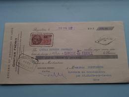 GONTIER Frères ( Epicerie/Droguerie ) ANGOULÊME Charente ( Reçu / Mandat ) Anno 1937 ( Zie/voir Photo) ! - Cambiali