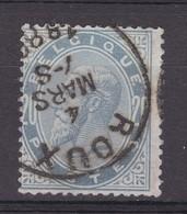 N° 39  Pli De Coin ROUX - 1883 Léopold II
