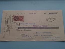 GONTIER Frères ( Epicerie/Droguerie ) ANGOULÊME Charente ( Reçu / Mandat ) Anno 1937 ( Zie/voir Photo) ! - Wechsel