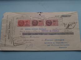 GONTIER Frères ( Epicerie/Droguerie ) ANGOULÊME Charente ( Reçu / Mandat ) Anno 1938 ( Zie/voir Photo) ! - Cambiali