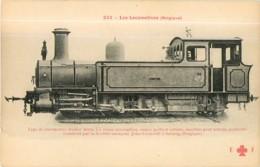 Cie BELGE , BELGIQUE - Machine Pour Terrain Accidenté Construite Par Cockerill - Les Locomotives  , Ed. Fleury - 2 Scans - Matériel