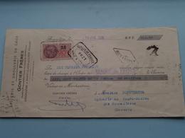 GONTIER Frères ( Epicerie/Droguerie ) ANGOULÊME Charente ( Reçu / Mandat ) Anno 1938 ( Zie/voir Photo) ! - Lettres De Change