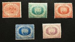 San Marino 1894-1899 Sassone S.6 Nuovi** Cod.fra.1155 - Unused Stamps