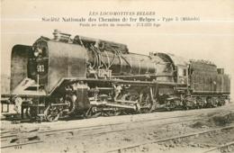 BELGIQUE - Machine Type 5 - Société Nationale Des Chemins De Fer Belges - Les Locomotives  , Ed. Fleury - 2 Scans - Matériel