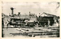 Chemin De Fer - Locomotive N° 169 HUNINGUE Compagnie De L' EST Charbonnier - 2 Scans - Matériel