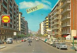 Sicilia-palermo Viale Lazio Veduta Viale Palazzi Auto Epoca Anni 70 Negozi Insegna Birra B H Rosticceria Animatissima - Palermo