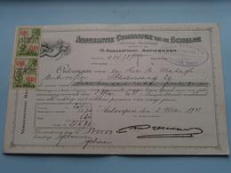 Assurantie Compagnie Van De SCHELDE Borzestraat Antwerpen ( Reçu / Mandat / Premie ) Anno 1931 ( Zie/voir Photo) ! - Lettres De Change