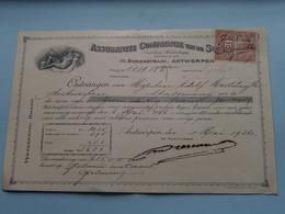 Assurantie Compagnie Van De SCHELDE Borzestraat Antwerpen ( Reçu / Mandat / Premie ) Anno 1926 ( Zie/voir Photo) ! - Lettres De Change