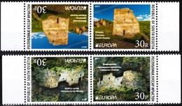 GEORGIA / Ossetia 2017 EUROPA: Castles. Set Horizontal Pairs. Perforated, MNH - 2017