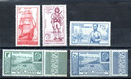 Nouvelle-Calédonie  Neukaledonien Y&T 190* - 194* - Neukaledonien