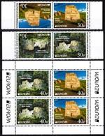 GEORGIA / Ossetia 2017 EUROPA: Castles. Horizontal Pairs & S/Sheet. Perforated, MNH - 2017