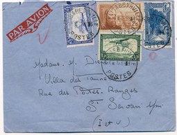 Lettre Par Avion Elisabethville Congo Belge Timbres Mixte Poste Aérienne Et Madagascar - Congo Belge