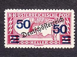 AUSTRIA 1921, COMPLETE SET, MH, Michel 254. OVERPRINT - SLOP BLUE COLOUR ON LEFT. Condition, See The Scans. - Variétés & Curiosités