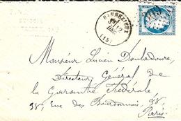 1874- Enveloppe De BARBEZIEUX ( Charente ) Cad T16 Affr. N°60 Type II Oblit. G C 309 - Marcophilie (Lettres)