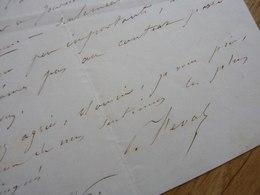 Paul FEVAL (1816-1887) Romancier CAPE Et D'EPEE. Feuilletoniste. AUTOGRAPHE - Autographes