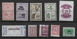 Hungary Revenue Stamps Revenues Stempelmarken Fiscal - Revenue Stamps