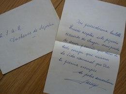 Prince Jacques De Bourbon (1908-1975) Fils ROI ESPAGNE Alphonse XIII Spana. AUTOGRAPHE - Autographs