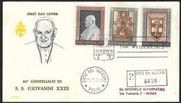 1961 - VATICANO - FDC - Y&T 335+339/340 [Giuseppe Angelo Roncalli] + CITTA DEL VATICANO - FDC