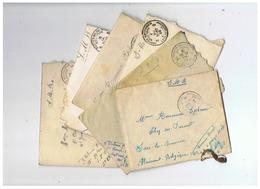 LOT LETTRES AVEC CORRESPONDANCE POSTES MILITAIRES BELGIQUE 1924 - 1914-18