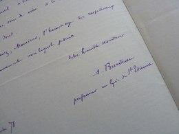 Auguste BURDEAU (1851-1894) Philosophe. PRESIDENT Assemblée Nationale. Ministre MARINE. Lyon. AUTOGRAPHE - Autographes