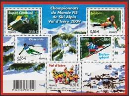 """Bloc Feuillet F 4329 De 2009 Neuf """"Championnat Du Monde De Ski Alpin Val D'Isère"""" - Neufs"""