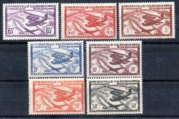 Nouvelle-Calédonie  Neukaledonien Luftpost Y&T PA 39** - PA 45** - Neukaledonien