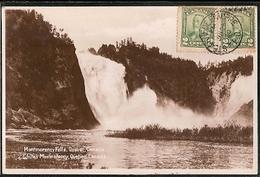 Canada & Circulated, Greetings From Montmorency Falls, La Côte-de-Beaupré, Porto Portugal 1930 (6671) - Souvenir De...