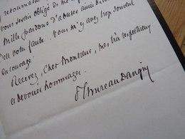 THUREAU DANGIN (1837-1913) Historien ACADEMIE FRANCAISE. - AUTOGRAPHE - Autographes